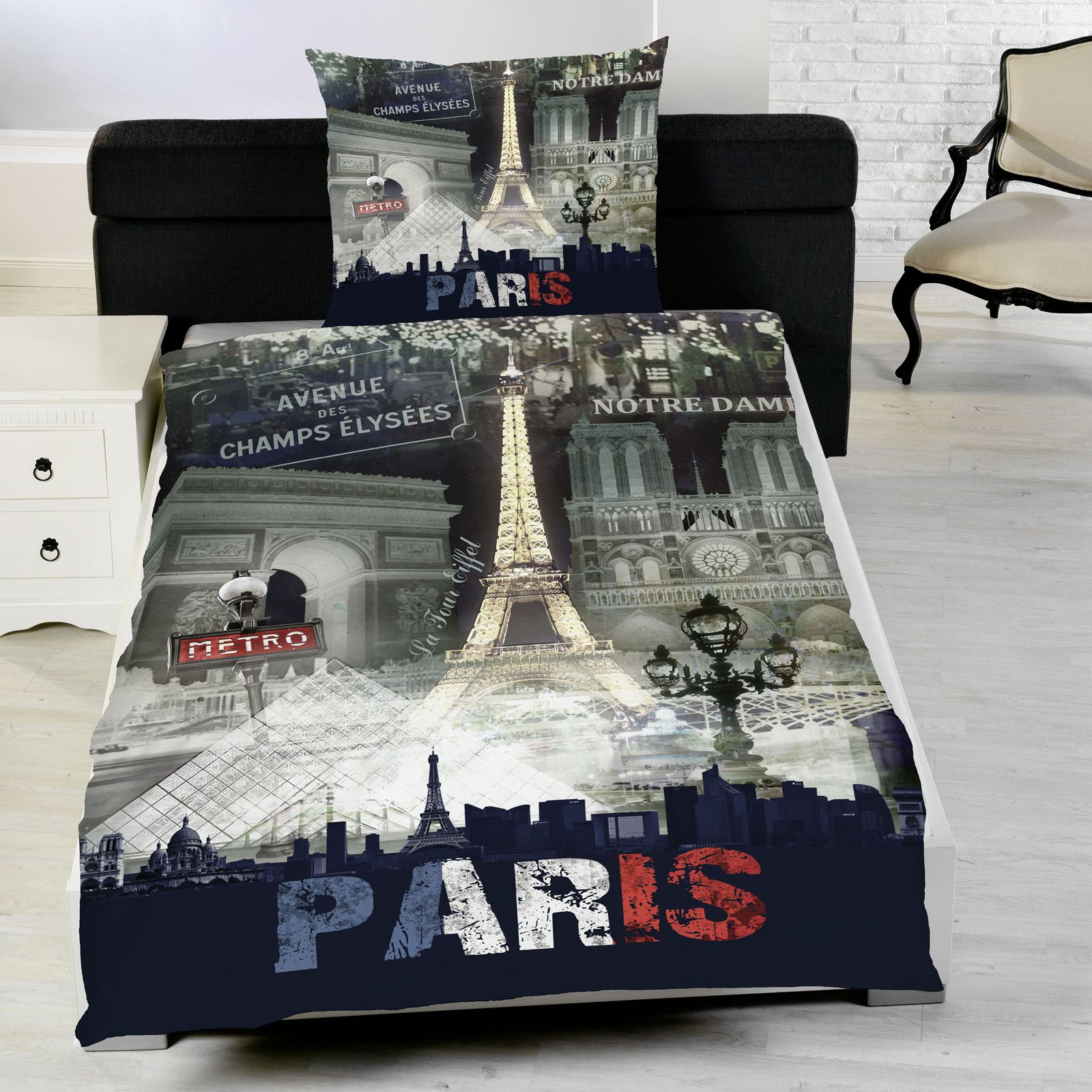 Knight Rider Bettwäsche Paris Night Single Duvet Cover Bedding Eiffel Tower New Ebay
