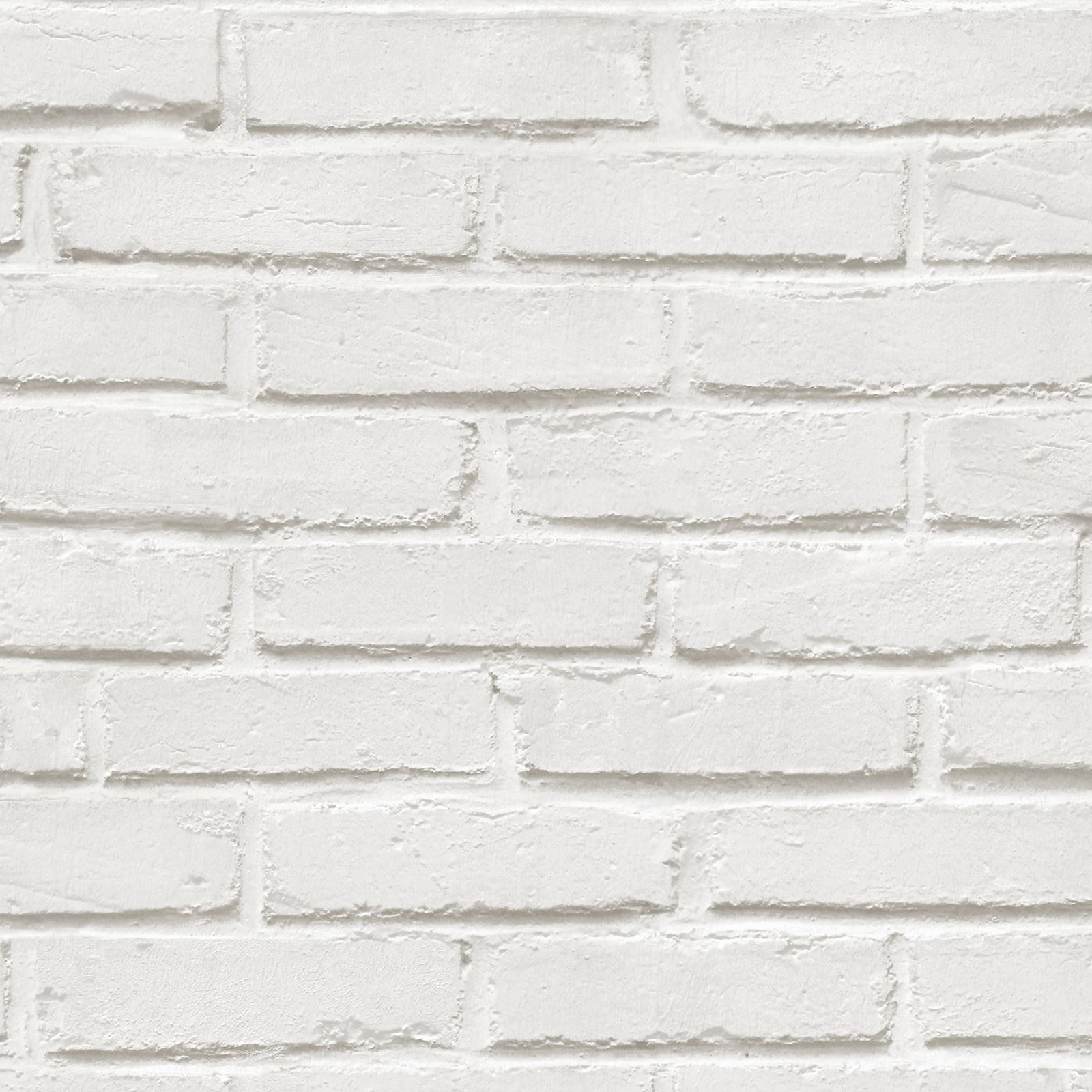 Baksteen Behang Wit White Brick Effect Wallpaper 5 Styles Feature Wall