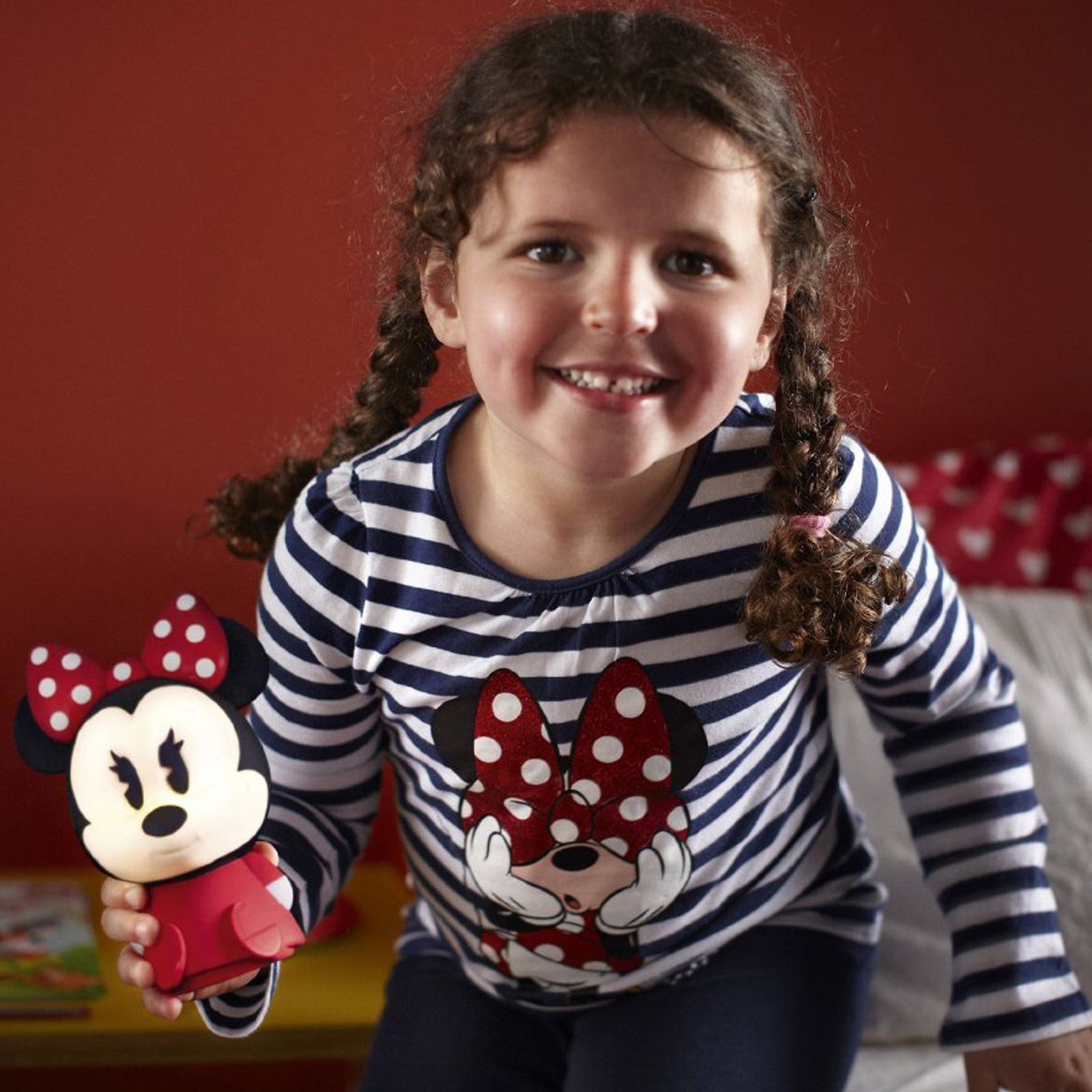 Baby Bettwäsche Minnie Mouse Led Lampe Minnie Mouse Softpal Licht Lampe Neu Philips