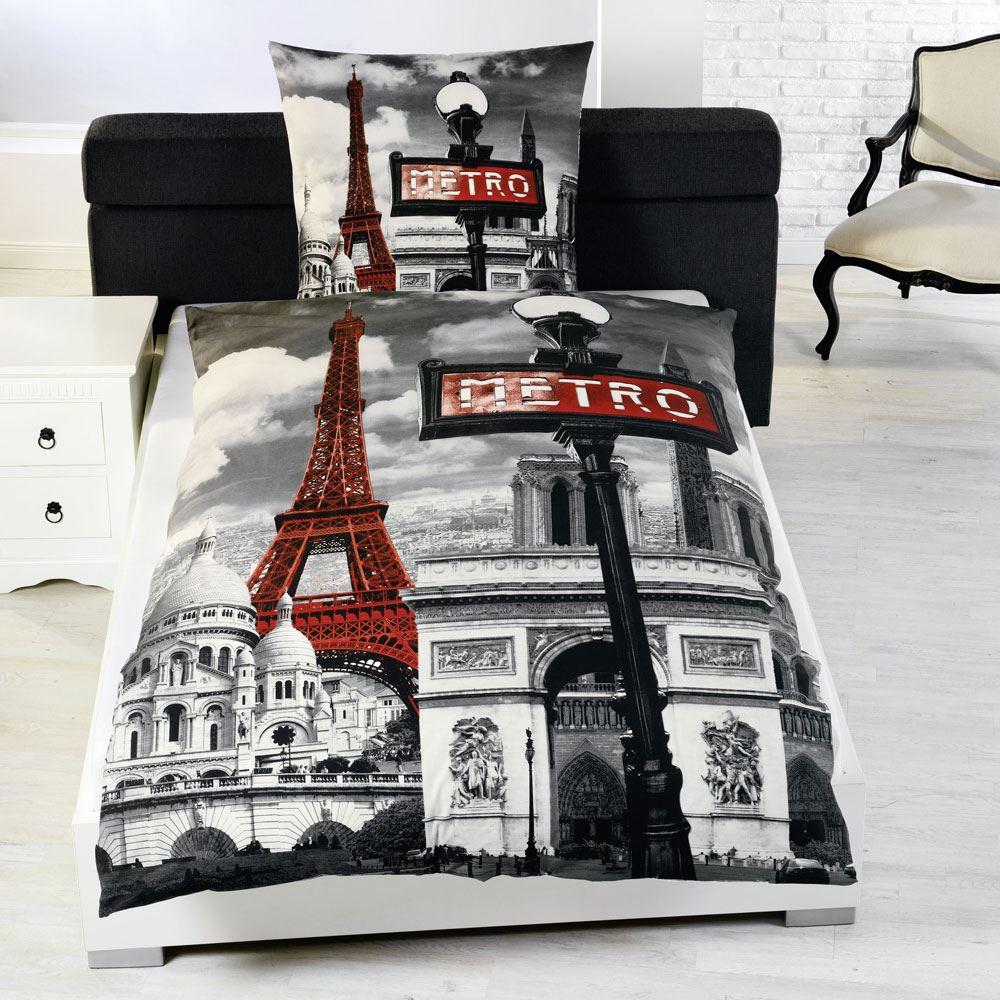 Black And White Single Duvet Sets PARIS BEDDING SINGLE DUVET COVER SETS CITY LANDMARKS EIFFEL TOWER BEDROOM | eBay