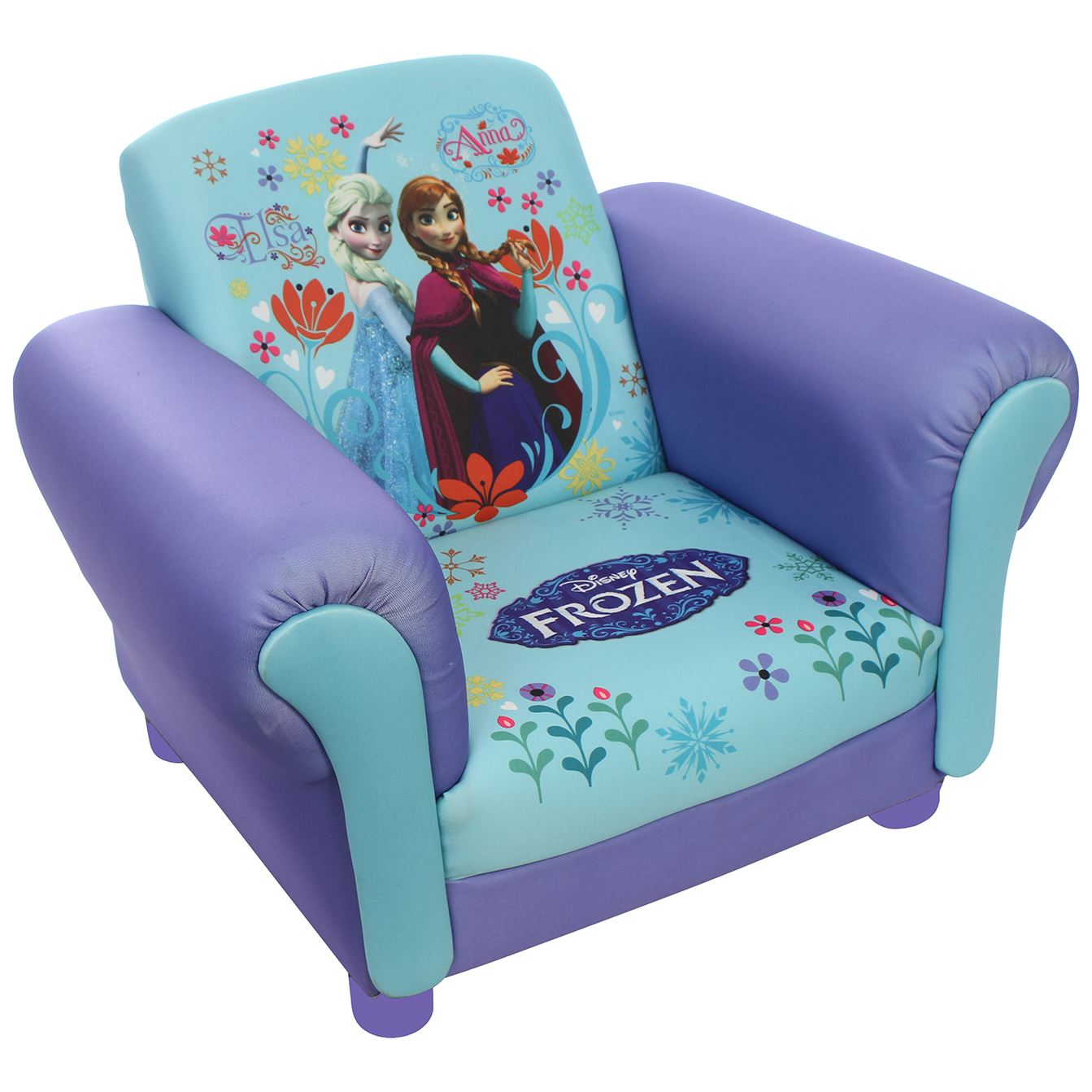 Toddler Couch Children 39s Princess Frozen Elsa And Anna Upholstered Chair