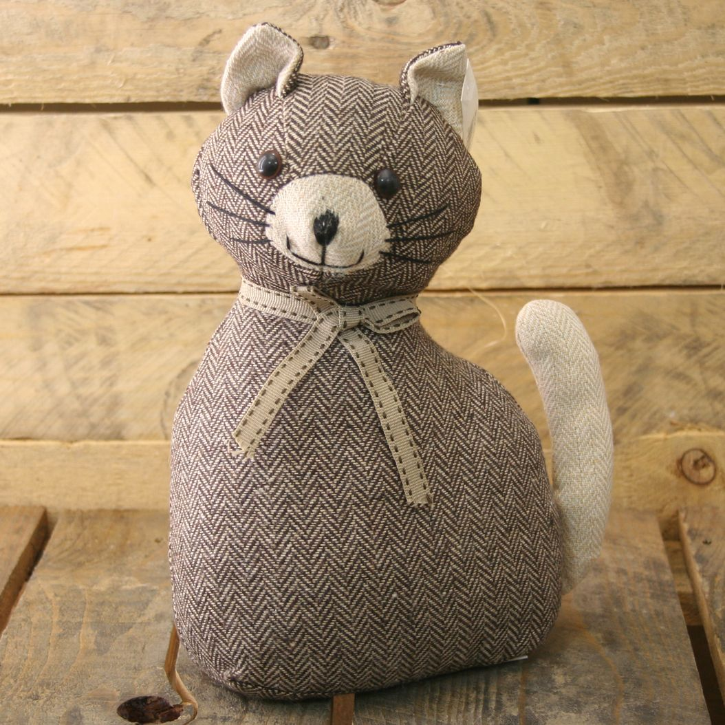 Fabric Door Stopper Cat Doorstop Herringbone Pattern Fabric Door Stop Ebay
