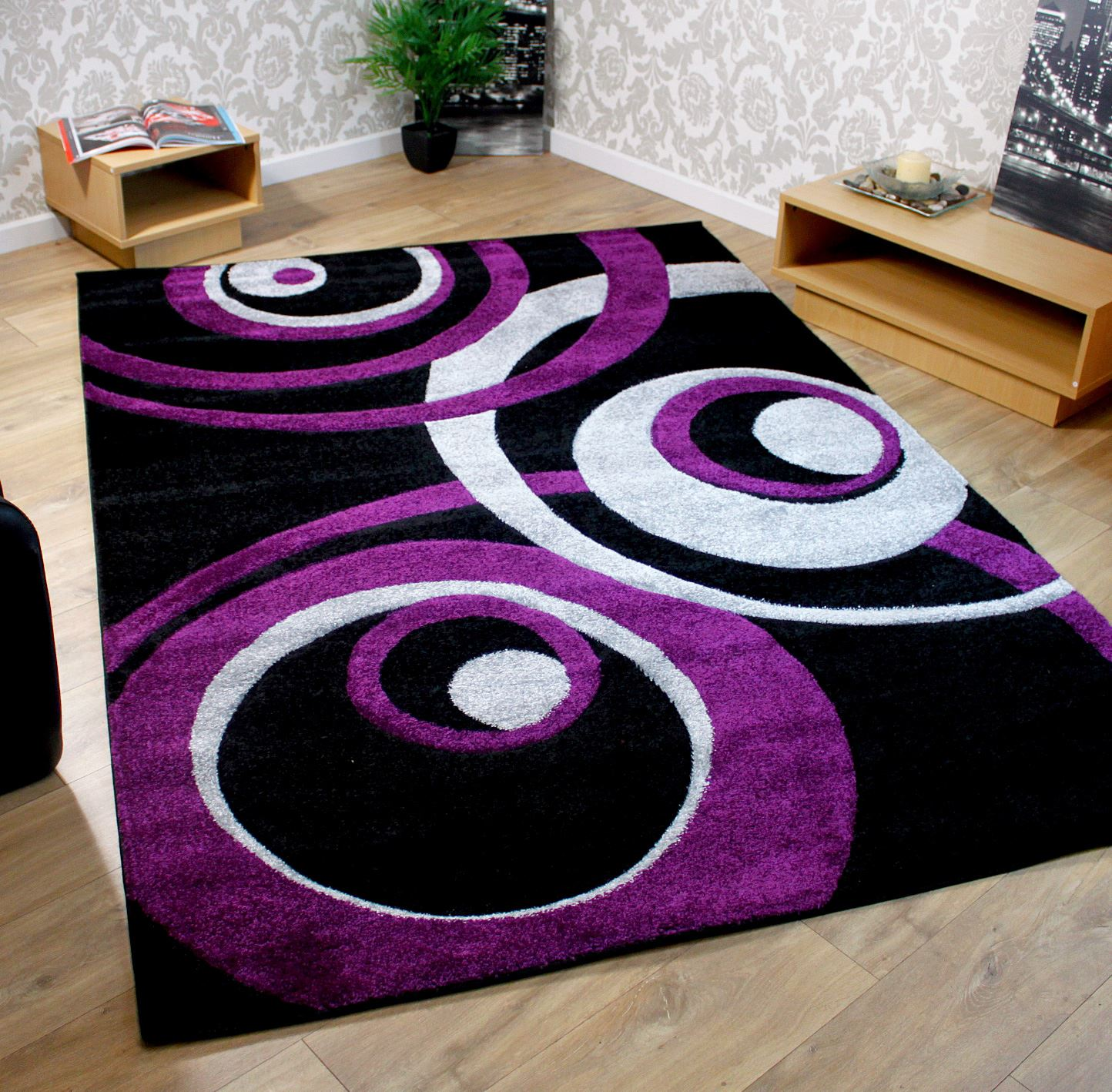 Black White And Purple Living Room Black Purple Red Brown Cream Teal Blue Modern Extra Large