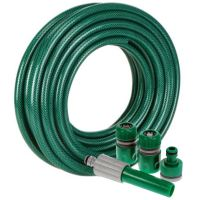Reinforced PVC Garden Hose Pipe Spray Gun With Fittings ...