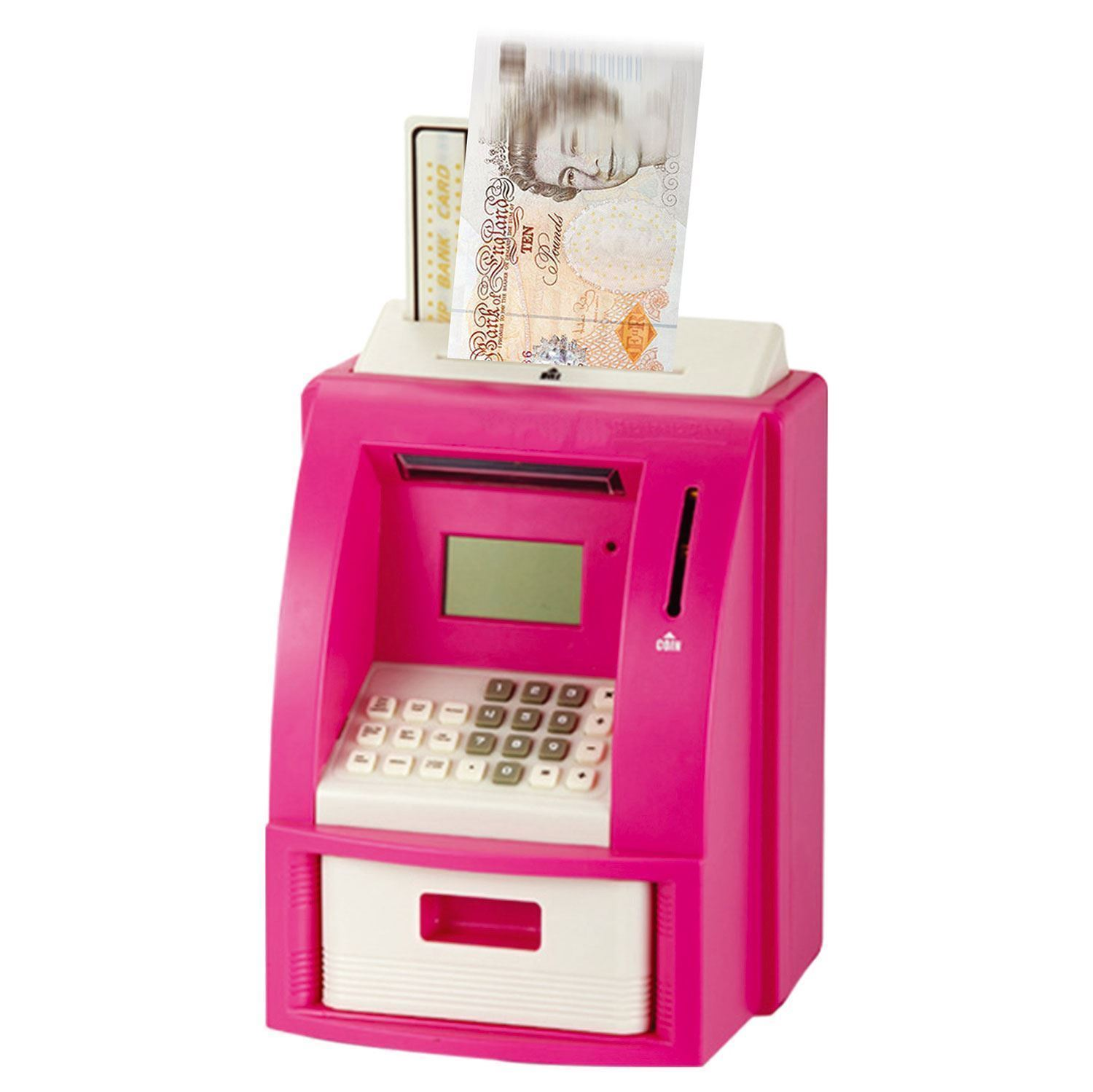 Piggy Bank Adult Pink Or Black Electric Coin Atm Money Counting Savings