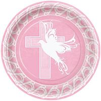 HOLY COMMUNION CONFIRMATION BAPTISM RELIGIOUS PAPER PLATES ...