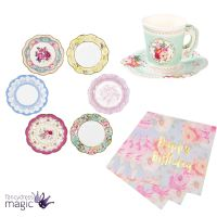 Talking Tables Truly Scrumptious Vintage Tea Set Party Hen ...