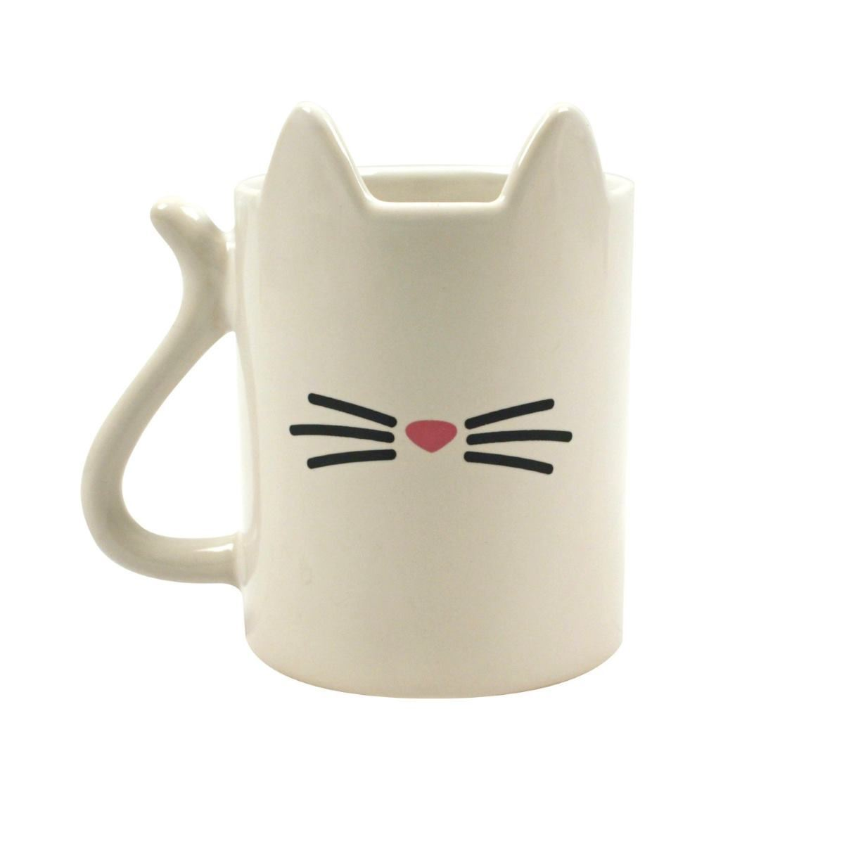 Odd Shaped Coffee Mugs Cat Shaped 3d Mug Funny Coffee Cup White Cat Lover Gift