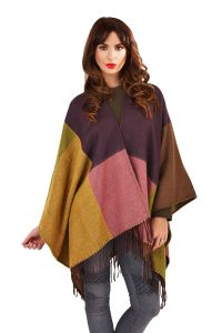 Womens Ladies Knitted Autumn Winter Tartan Check Blanket ...