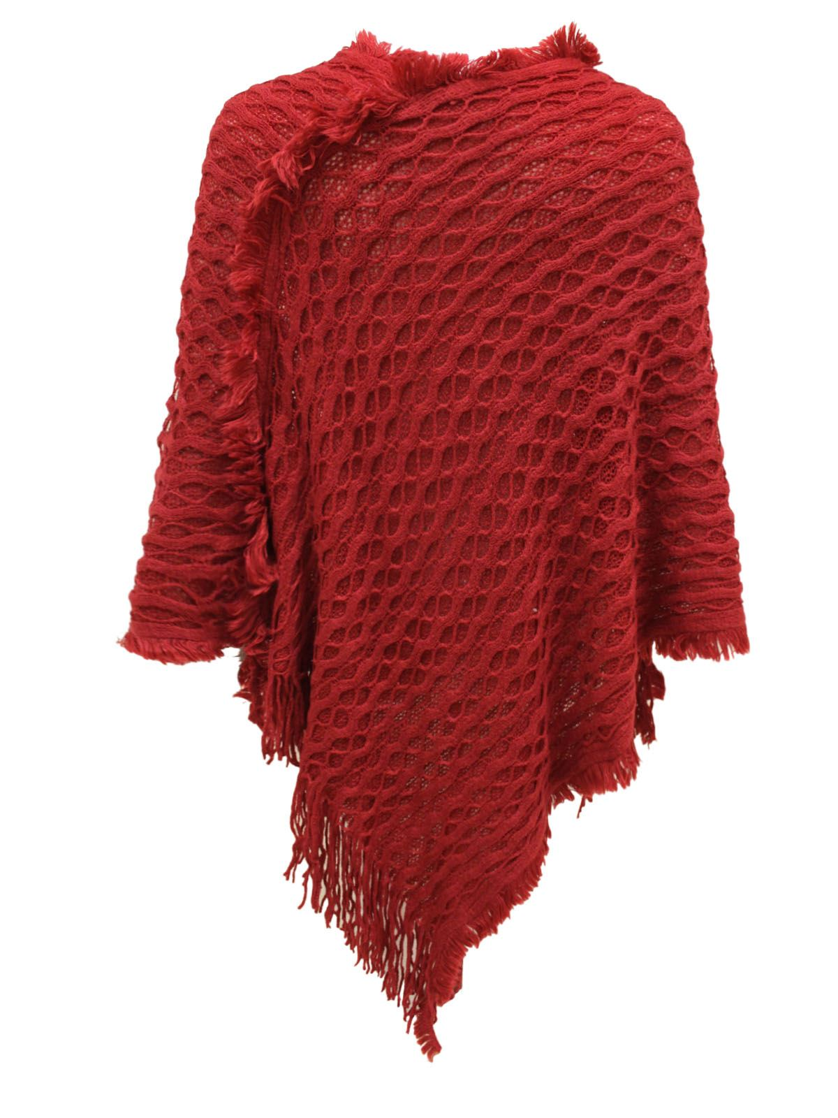 Ladies Shawl Sweater Womens Ladies New Knitted Warm Poncho Cape Wrap Shawl