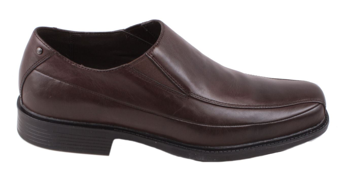Rockport Frasha Mens Dark Brown Leather Slip On Moccasin