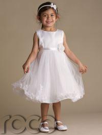 Girls Ivory Cream Petals Dress Pink Flower Girl Dress ...