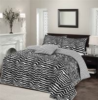 Alex Stripe Luxury Soft Polycotton Quilted Bedspread Bed ...