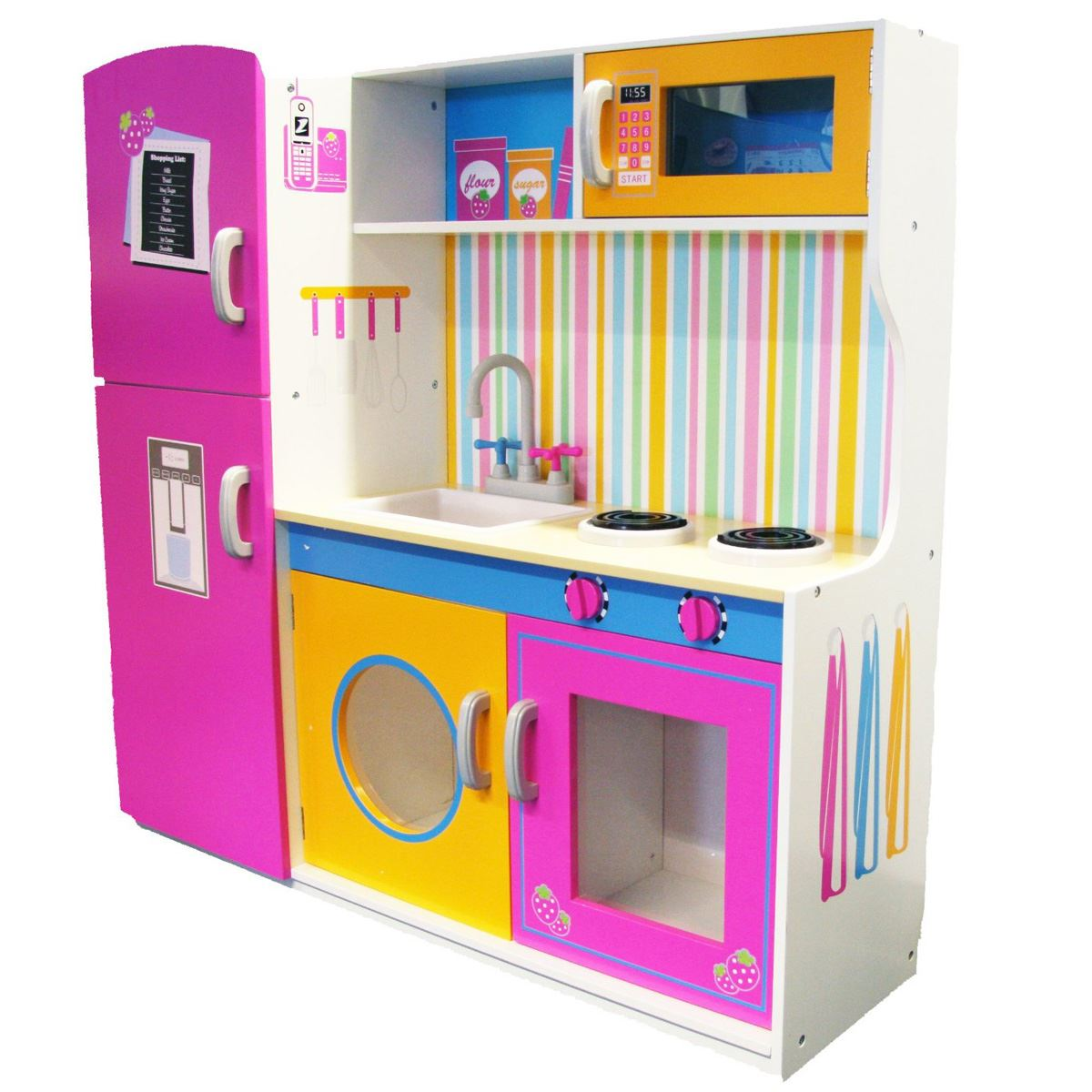 Childrens Toy Kitchen Childrens Wooden Toy Kitchen Unit Role Play Kids Microwave