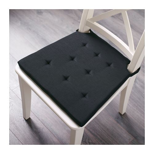 Ikea Chair Pads Ikea Admete Chair Pad, Black Or Natural | Ebay
