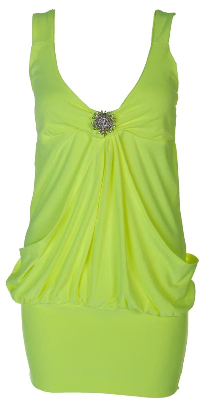 Neon Colored Plus Size Clothing New Ladies Neon Plain Colored Mini Broche Dress 8-22 | Ebay