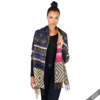 Womens Warm Fringe Blanket Scarf Winter Shawl Fair Isle ...
