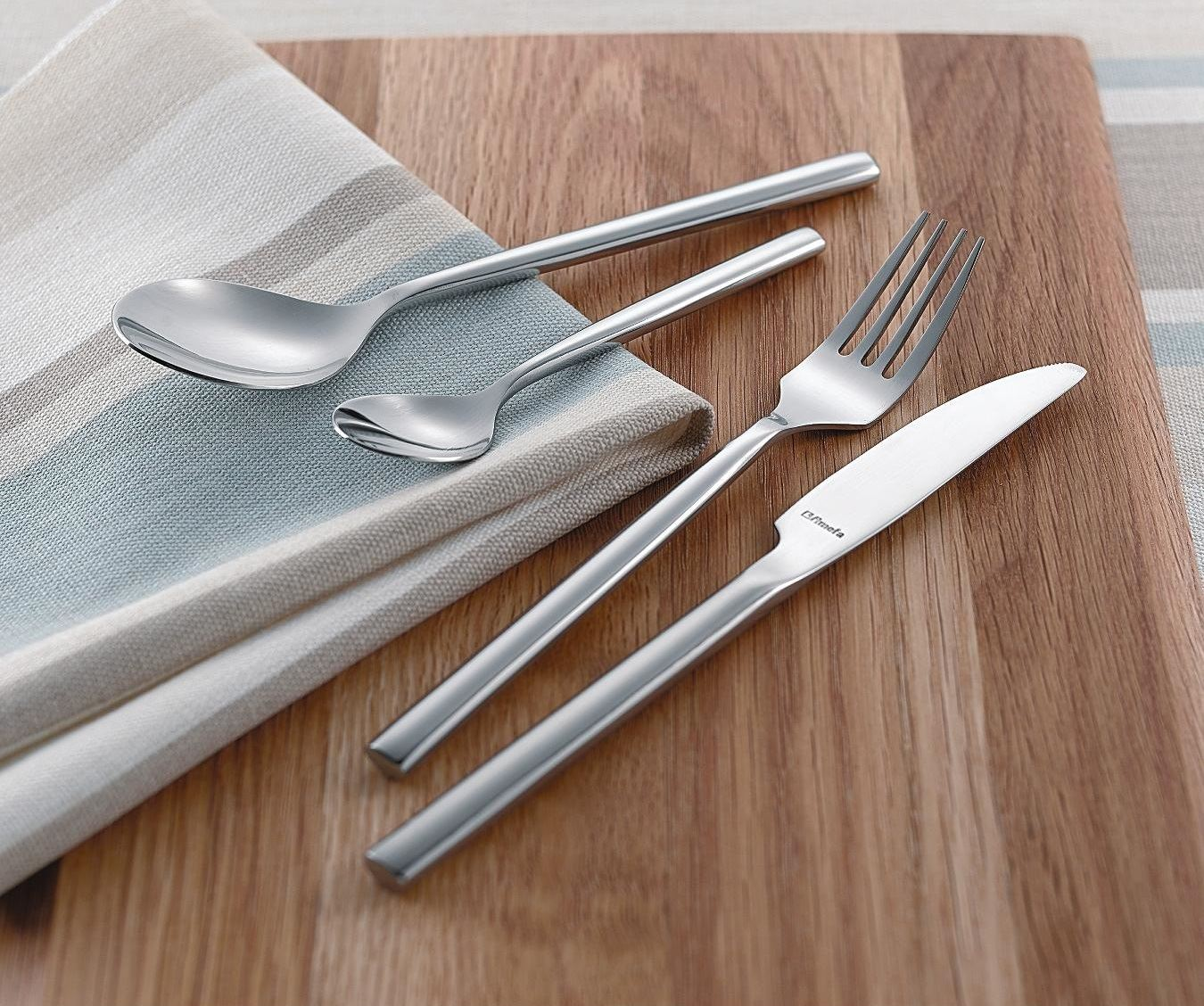 Contemporary Stainless Steel Flatware Amefa Modern Premium Carlton Polished Stainless Steel