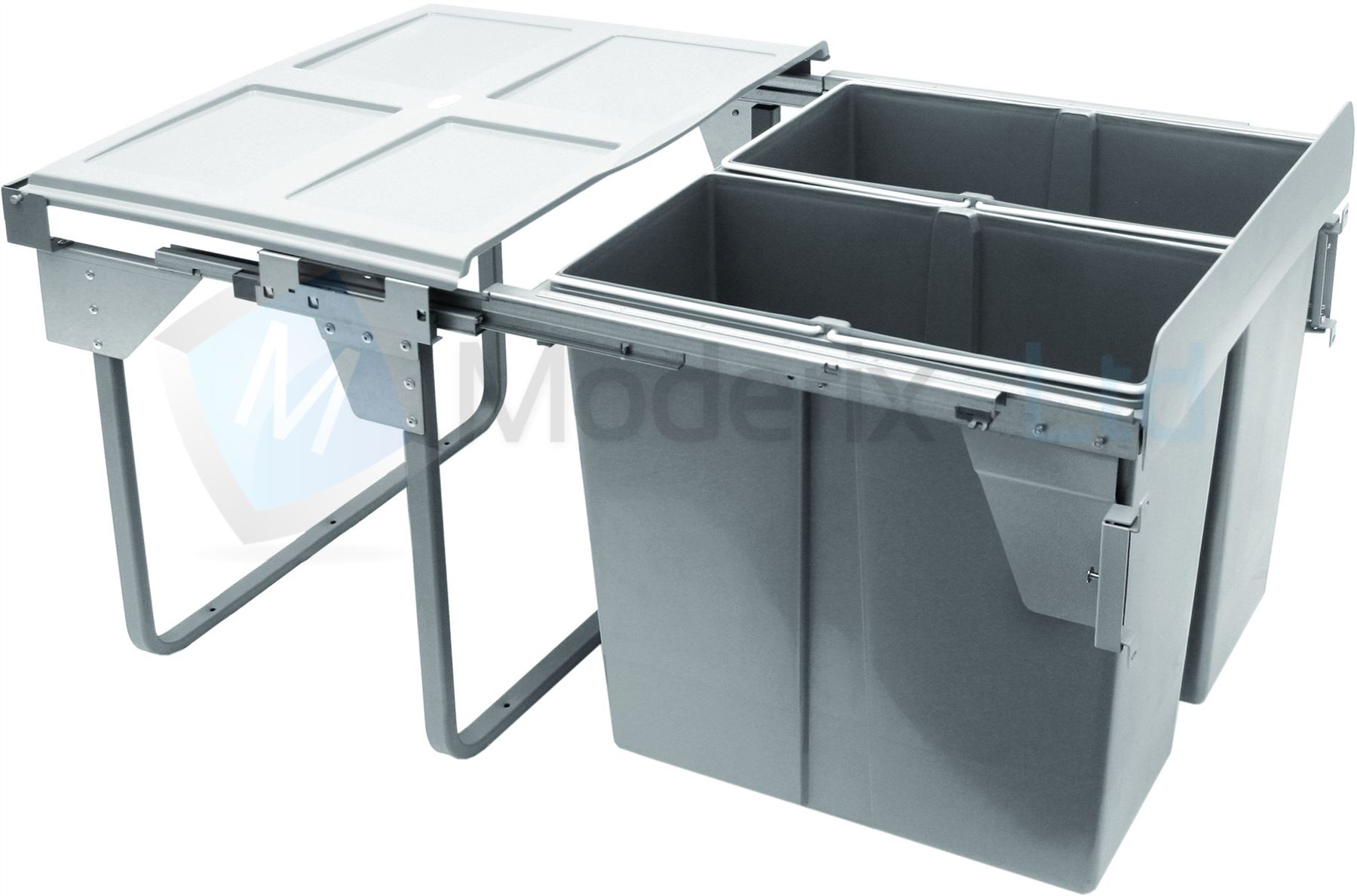 Door Mounted Pull Out Bin Kitchen Pull Out Plastic Recycling Bin Waste Bin Full