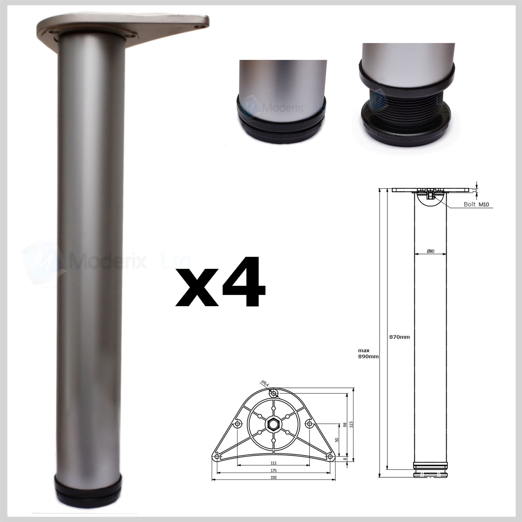 Diy Adjustable Table Legs All Sizes Adjustable Breakfast Bar Worktop Support Table