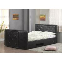 LUXURIOUS HOLLYWOOD LEATHER CRYSTAL MOUNT BED REMOTE ...