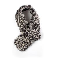 Ladies Luxurious Feel Black and White Leopard Print Faux ...