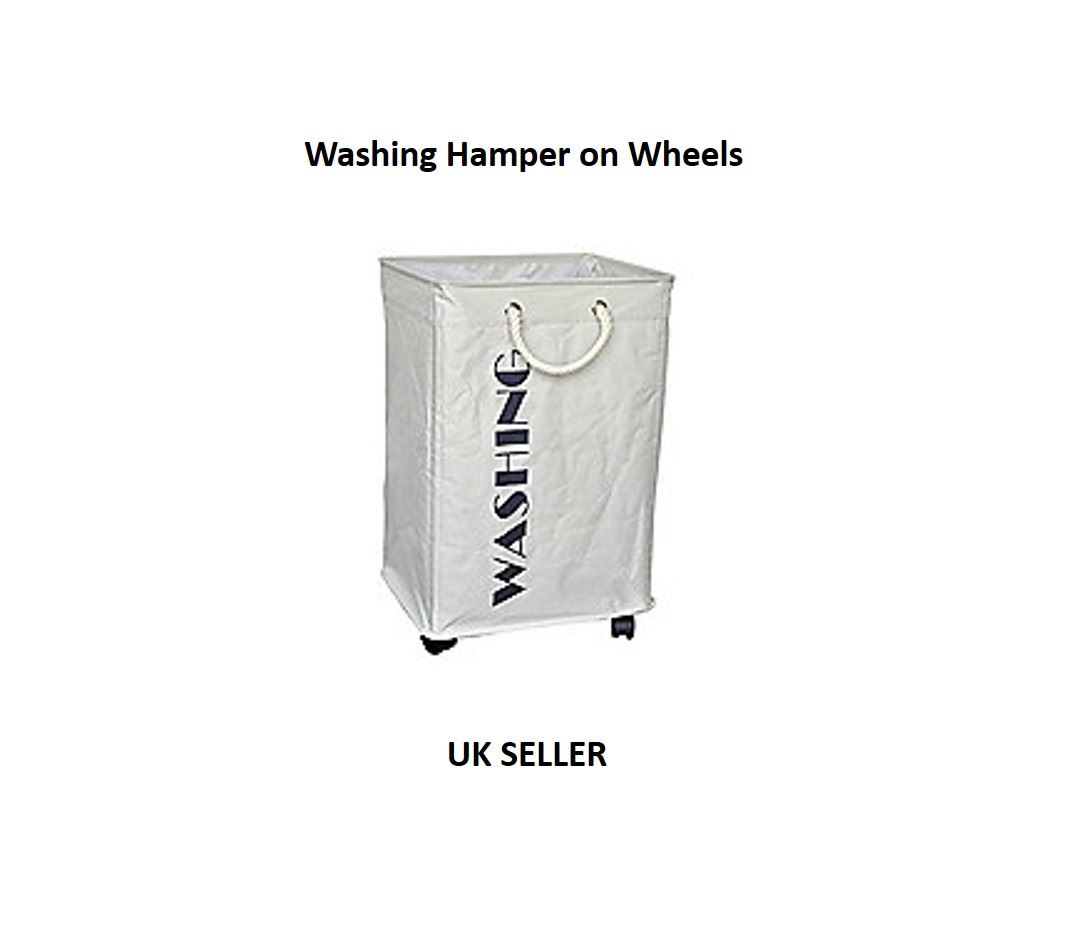 Hamper On Wheels Deluxe Laundry Washing Hamper Basket On Wheels Clothes