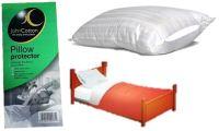 Pillow Protectors 100% Cotton White Pillow Case Zip ...