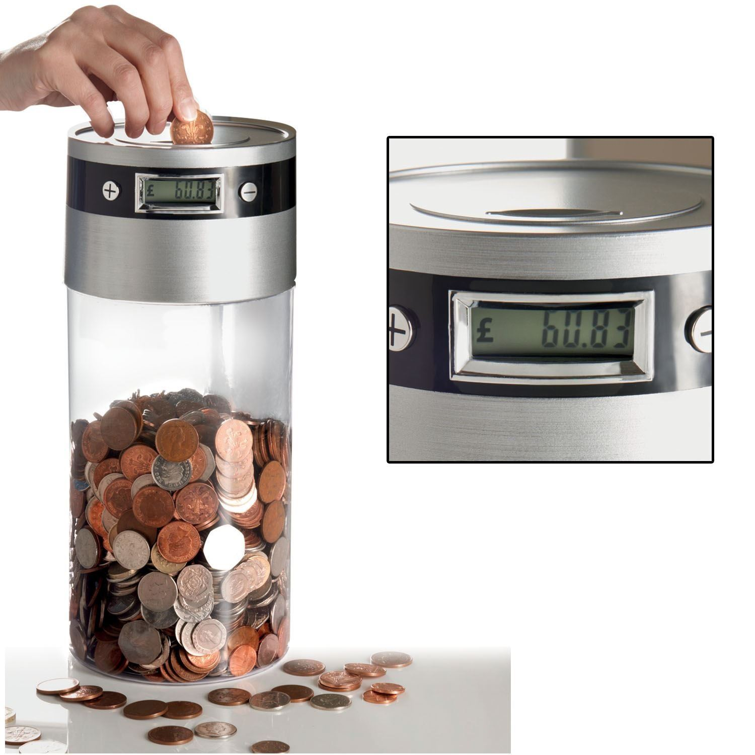 Piggy Bank With Counter Digital Atm Money Savings Bank Lcd Display Coin Counter