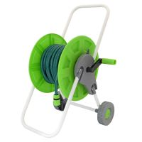 15m 25m 60m Flat Hose Pipe Reel Trolley Cart Water ...