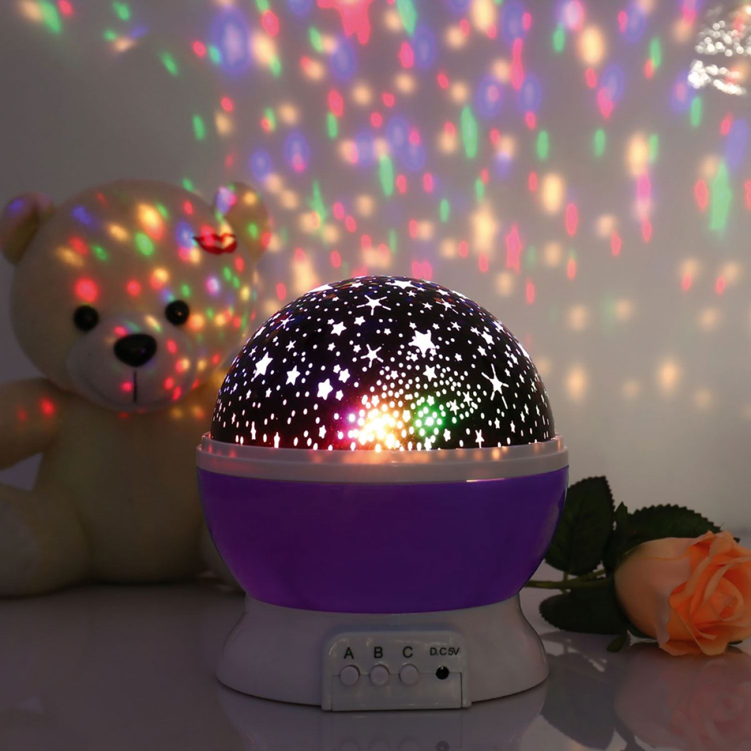 Kids Star Night Lights Beautiful Star Sky Starry Night Projector Light Lamp For