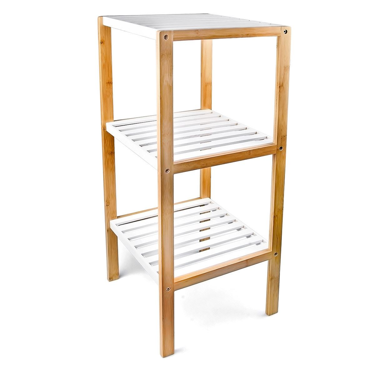 Holzregal Klein 3 Tier 4 Tier Wooden Bamboo Home Bathroom Storage Unit