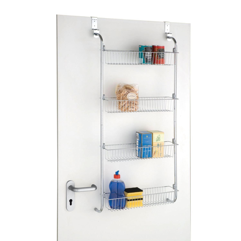 4 Tier Over Door Hanging Food Cupboard Storage Spice Rack
