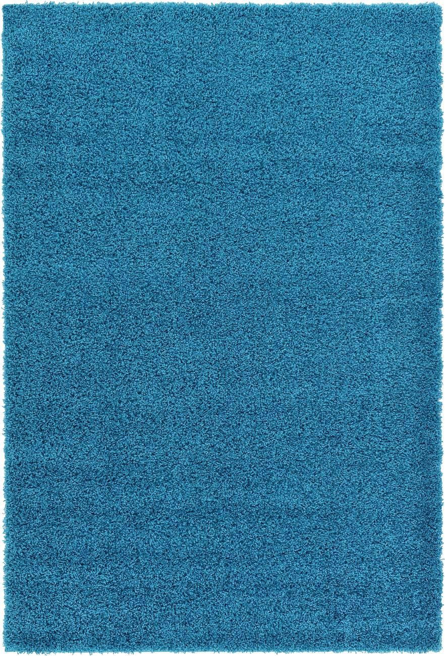Blue Shaggy Carpet Contemporary Soft Modern Rug 5cm Fluffy
