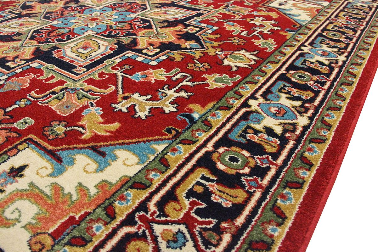 Red Oriental Rug Persian Rug Traditional Heriz Red Rugs 6 Size Available