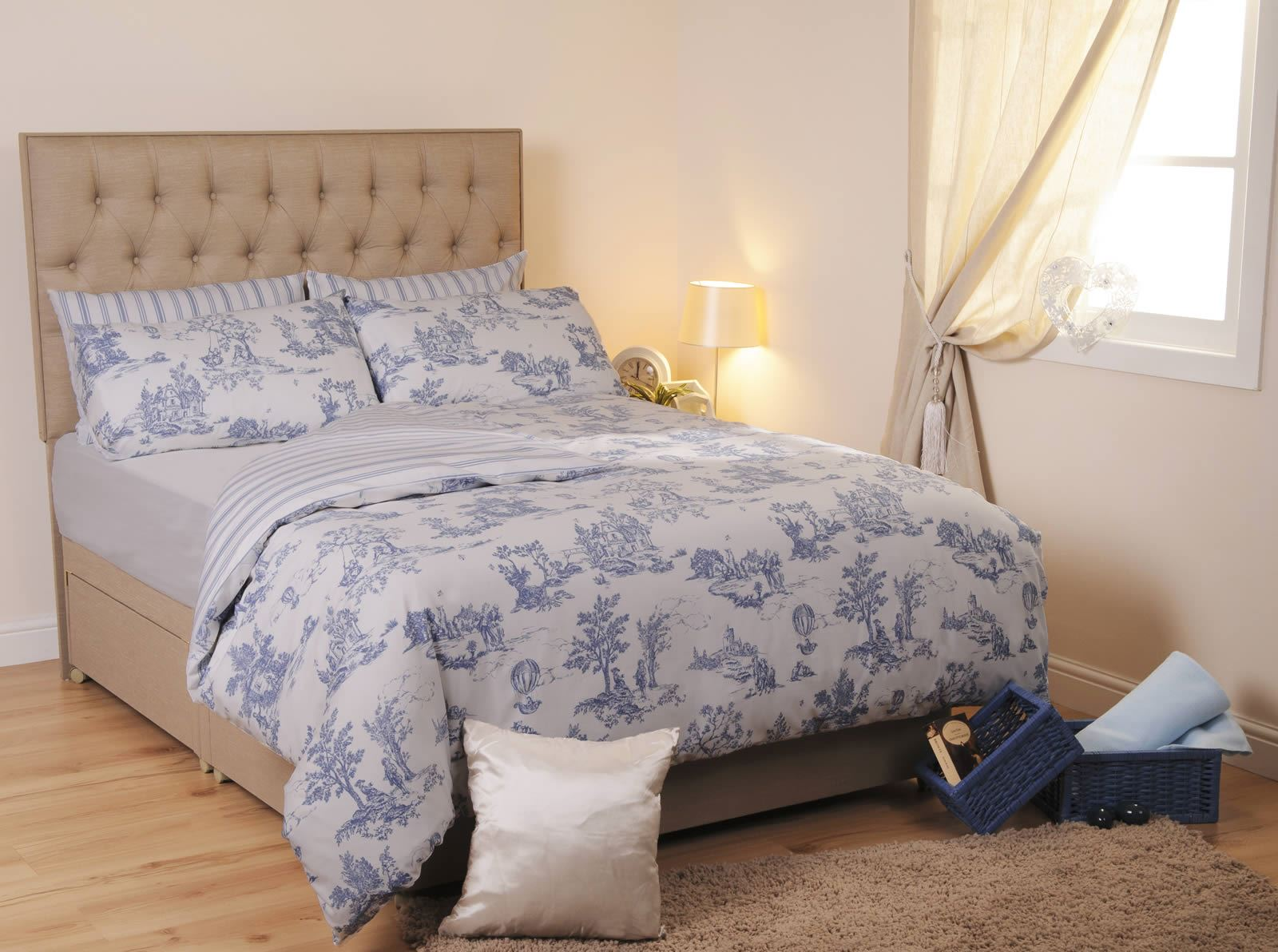 Toile Duvet Cover Blue Toile Duvet Cover Quilt Sets Easy Care Portugal