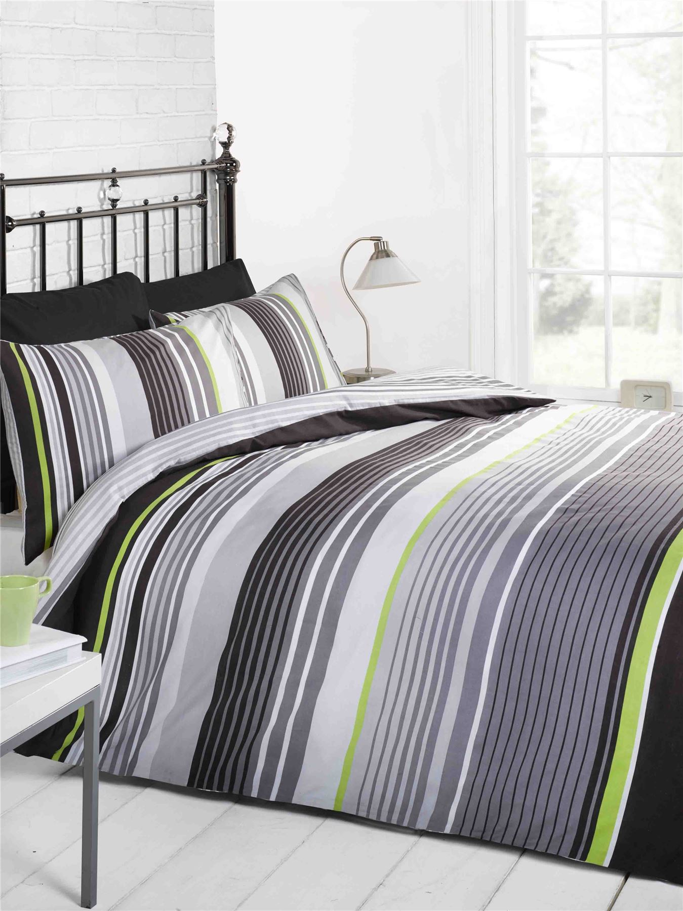 Black White And Grey Duvet Covers Cambridge Stripe Modern Duvet Cover Quilt Set Black Grey