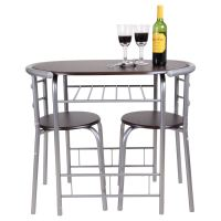 CHICAGO 3 PIECE DINING TABLE AND 2 CHAIR SET. BREAKFAST ...