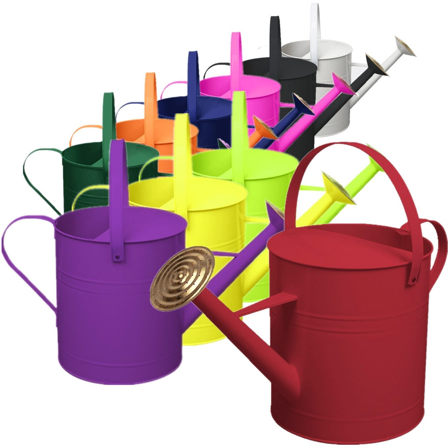 Plant Watering Cans Garden Plant Colour Galvanised Metal Steel Watering Can 9