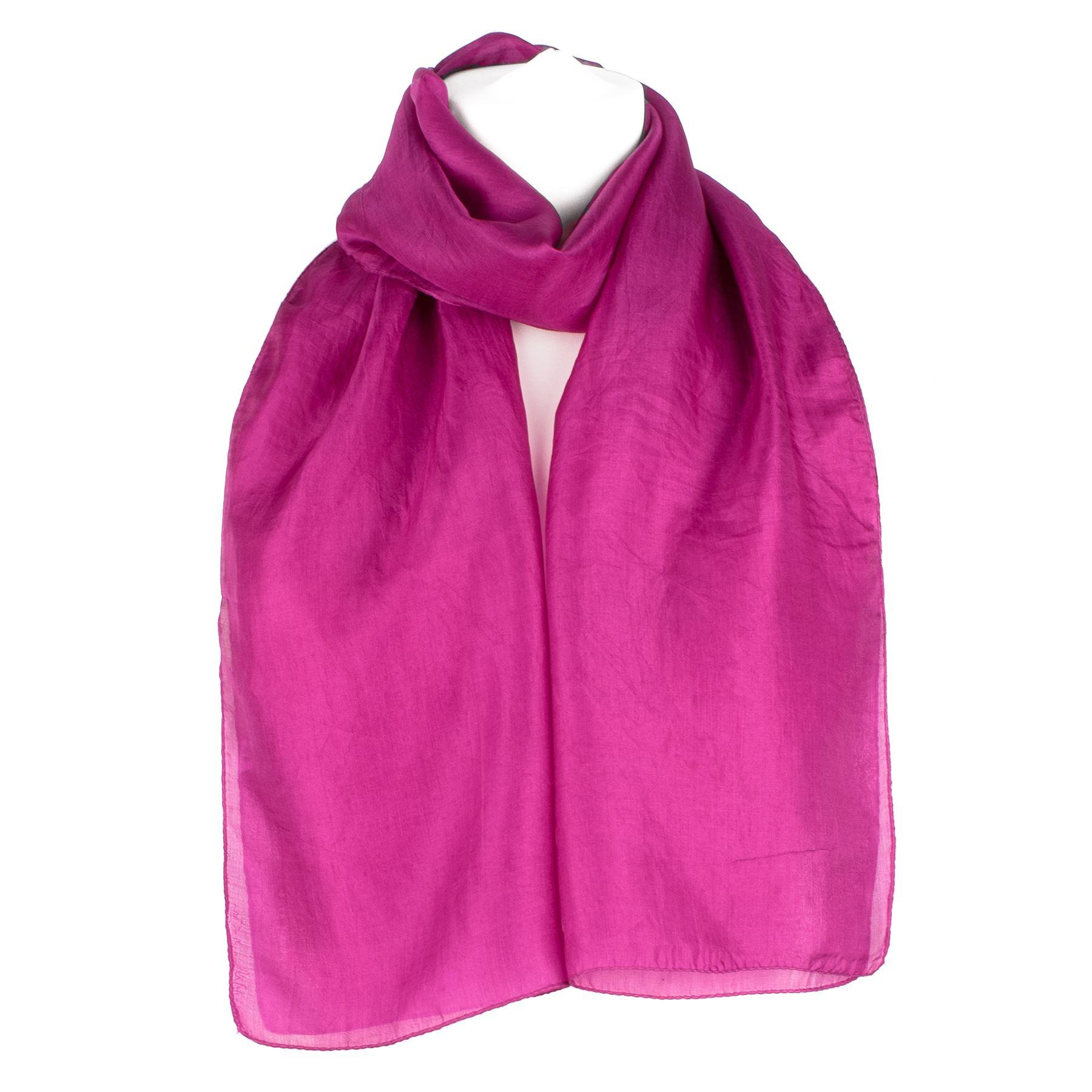 Plain Pure Silk Scarf Shawl Wrap