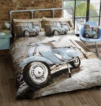 Photographic Scooter Retro Vespa Quilt Duvet Cover ...