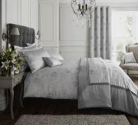Silver / Grey Quilt Duvet Cover Bedding Bed Set Bed Linen ...