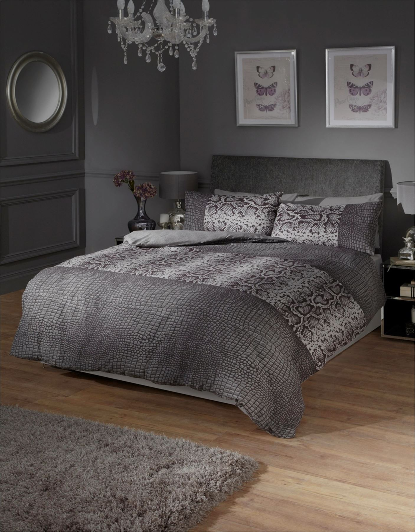 Black White And Grey Duvet Covers Black And Grey Snake Skin Style Quilt Duvet Cover