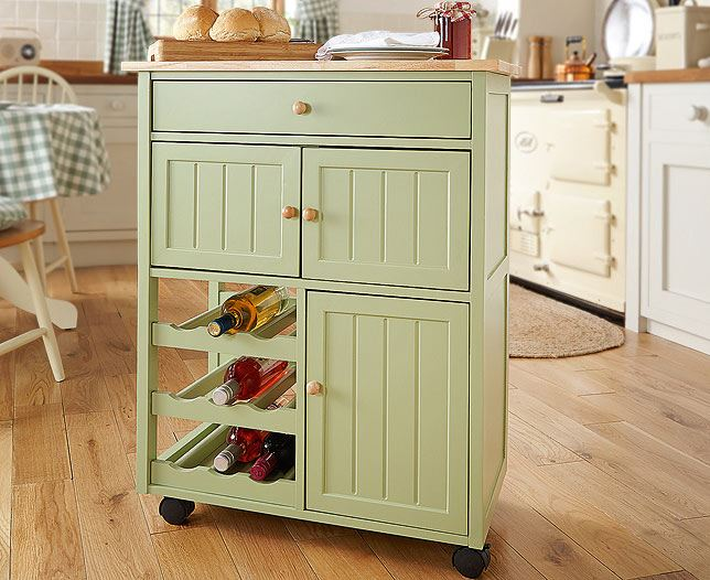 Kitchen Trolley Storage Serving Island Cart Rack Worktop