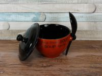 Soup bowl with black lid and spoon soup break | eBay