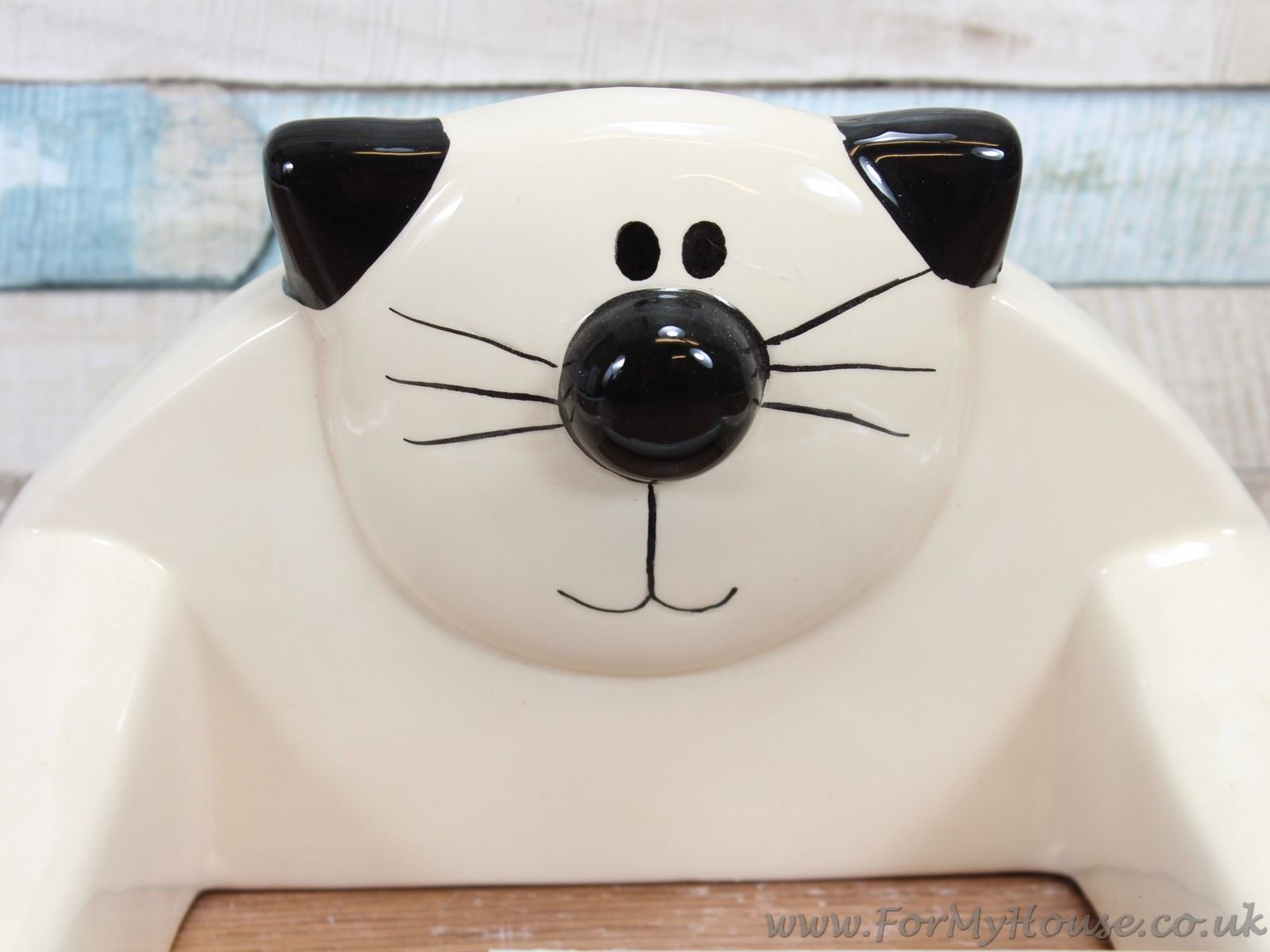 Animal Toilet Paper Holder Stand 2kewt Novelty Cat Cream Ceramic Toilet Roll Paper Holder