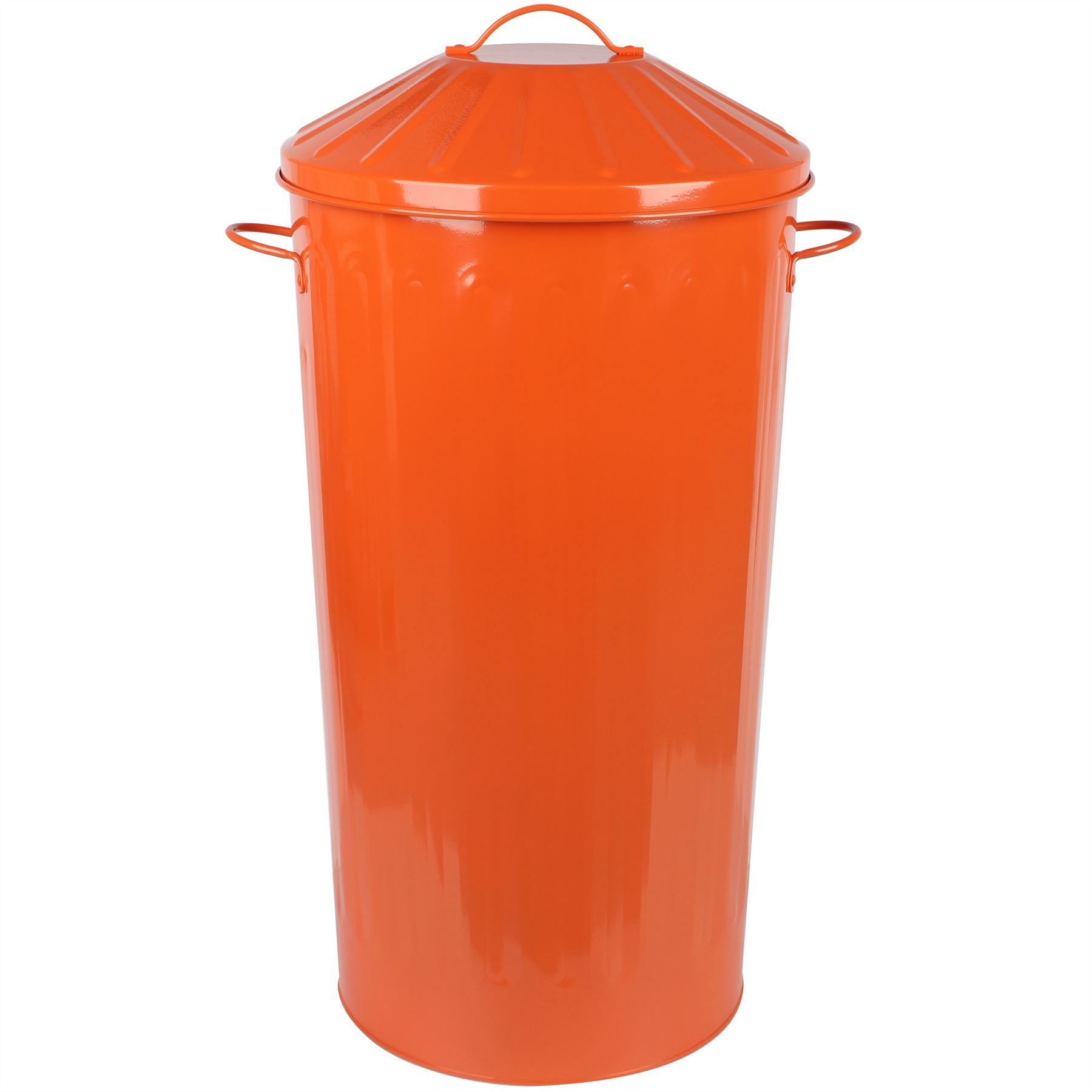 Small Metal Trash Cans With Lids Metal 50 Litre Kitchen Round Colour Recycle Dustbin