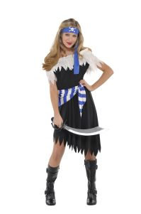 Girls Teens Shipwreck Caribbean Pirate Fancy Dress Costume ...