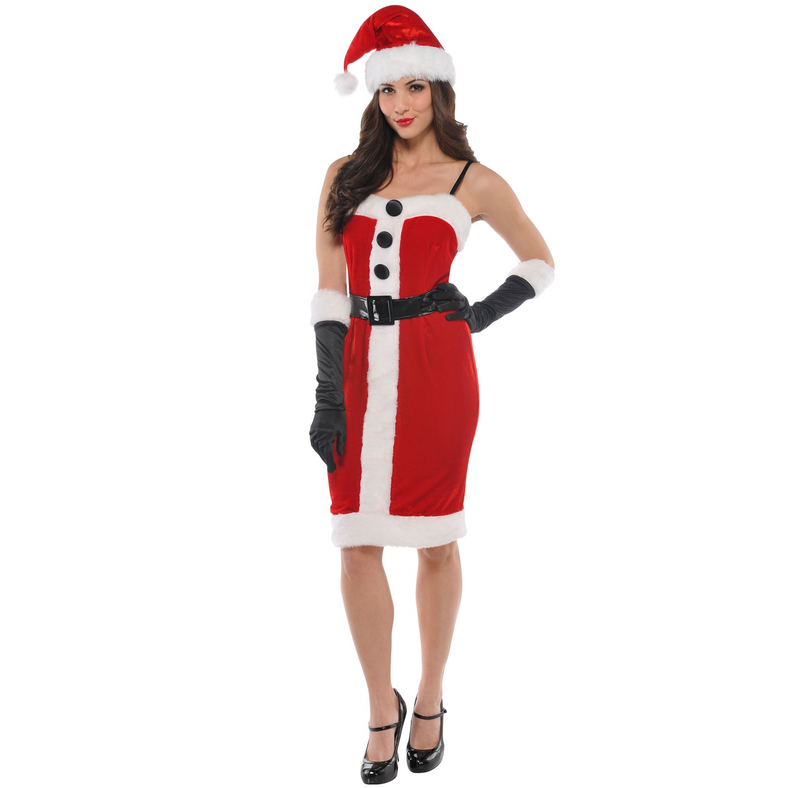 Kerst Jurk Miss Sexy Santa Ladies Christmas Xmas Womens Mrs Fancy
