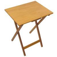 Folding Snack Table Pine Wood MDF TV Side Laptop Coffee ...